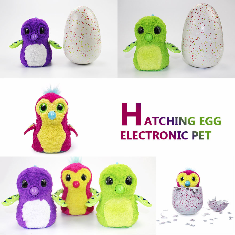 1Piece Interesting Creative Smart Magic Interactive Hatch Egg Electronic Pet Eggs Cute Animal hatching egg creative dinosaur egg interactive cute fantastic hatching egg with plush animal novelty gag toys growing dinosaur eggs