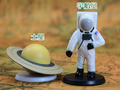 pvc   model  figure   astronaut  and  Saturn  2pcs/set  toy  gift