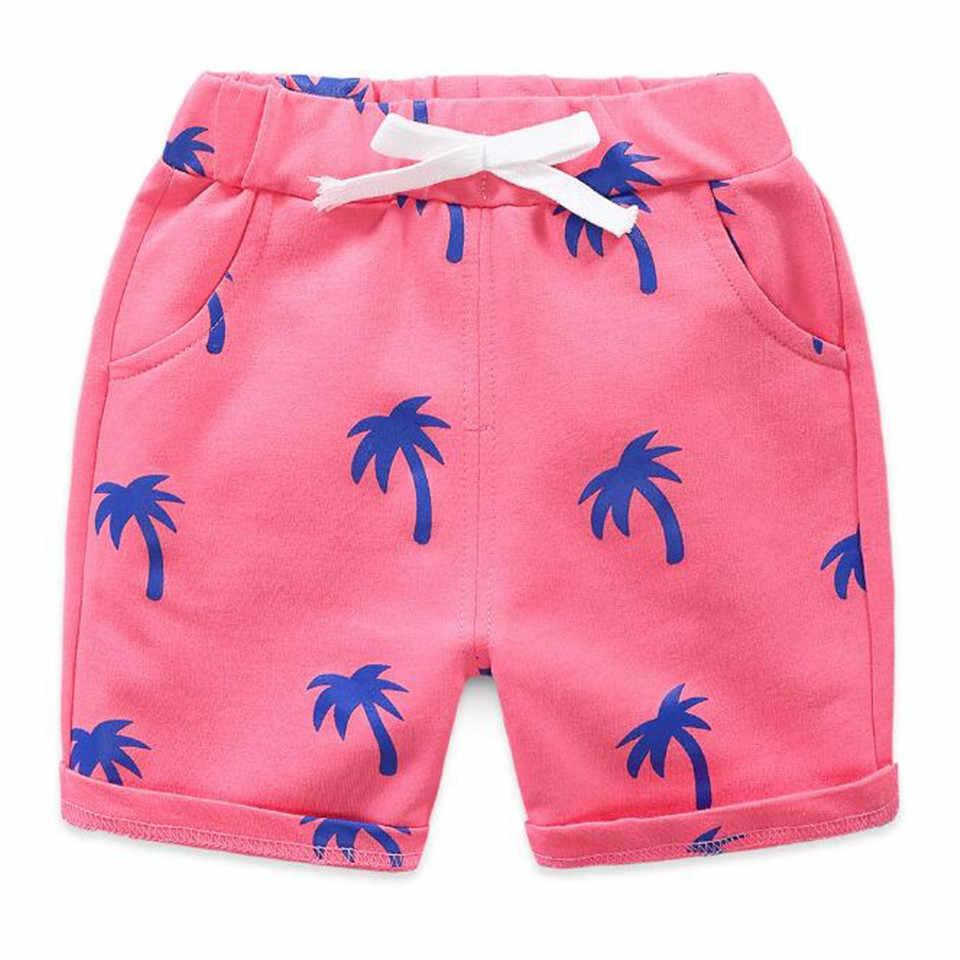 Новинка 2019 года; летние детские шорты с кокосовым деревом; легкие Пляжные штаны для мальчиков и девочек; свободные тонкие штаны в армейском стиле для малышей; одежда для детей