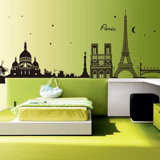 retro vintage francia par s torre eiffel diy pegatinas. Black Bedroom Furniture Sets. Home Design Ideas