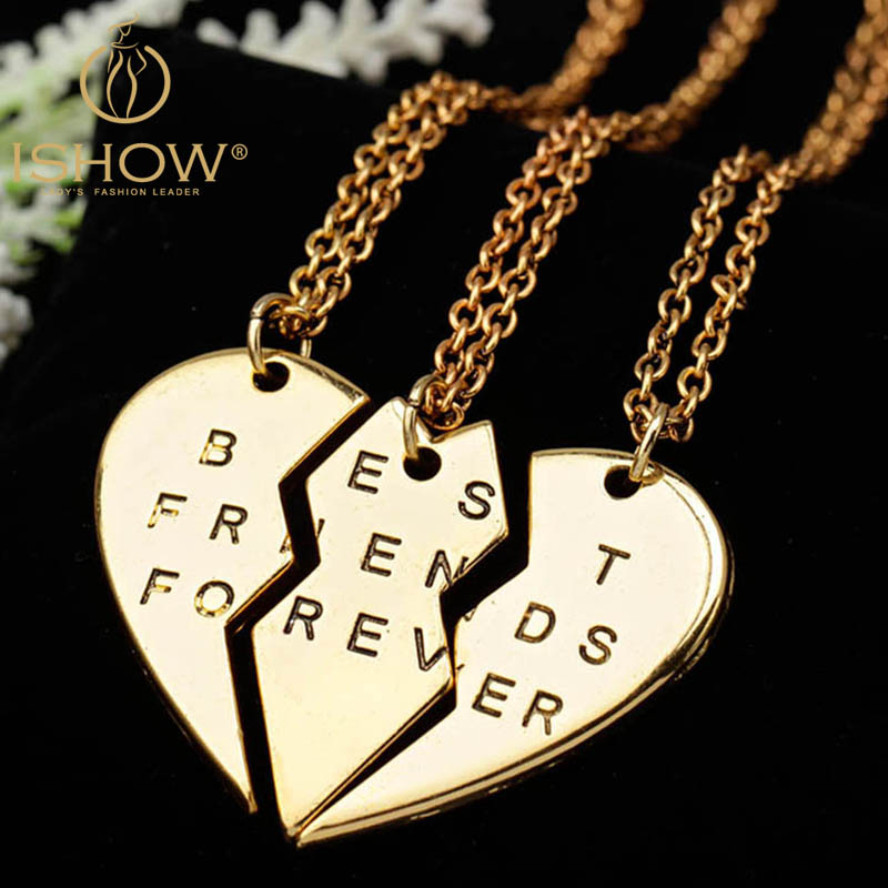 nuevo estilo bc74e 39aa4 Nuevo Collier collar corazón colgante piezas roto tres mejor ...