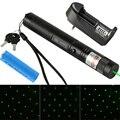 Высокой Мощности Горения Лазерной Ручки 303 Регулируемый Фокус Зеленая Лазерная Указка 10000mw18650 Аккумуляторная Батарея + Зарядное Устройство VC081 T18 0.2