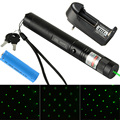 High Power Burning Laser Pens 303 Adjustable Focus Green Laser Pointer 10000mw18650 Rechargeable Battery+Charger VC081 T18 0.2