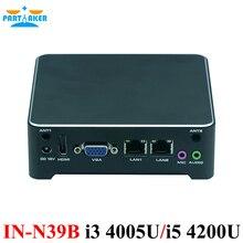 Причастником Мини-ПК 2 LAN Barebone Мини-ПК NUC неттоп настольный компьютер с oem i3 4005u i5 4200u процессор