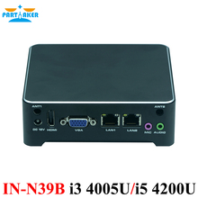Partaker Mini PC 2 Lan Barebone Mini PC Nuc Nettop Desktop Computer with OEM i3 4005u i5 4200u Core Processor