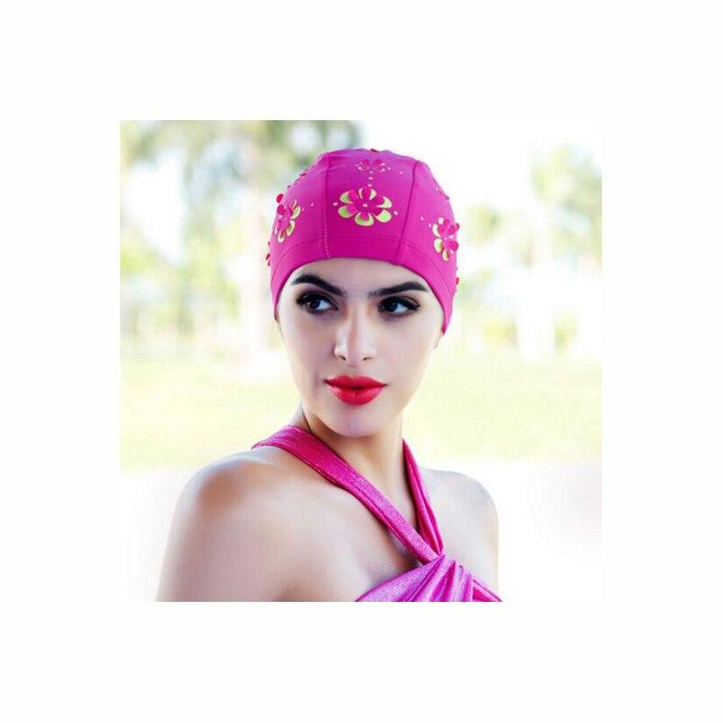 2018 New beautiful Woman Swimming Cap 4 colors Long Hair