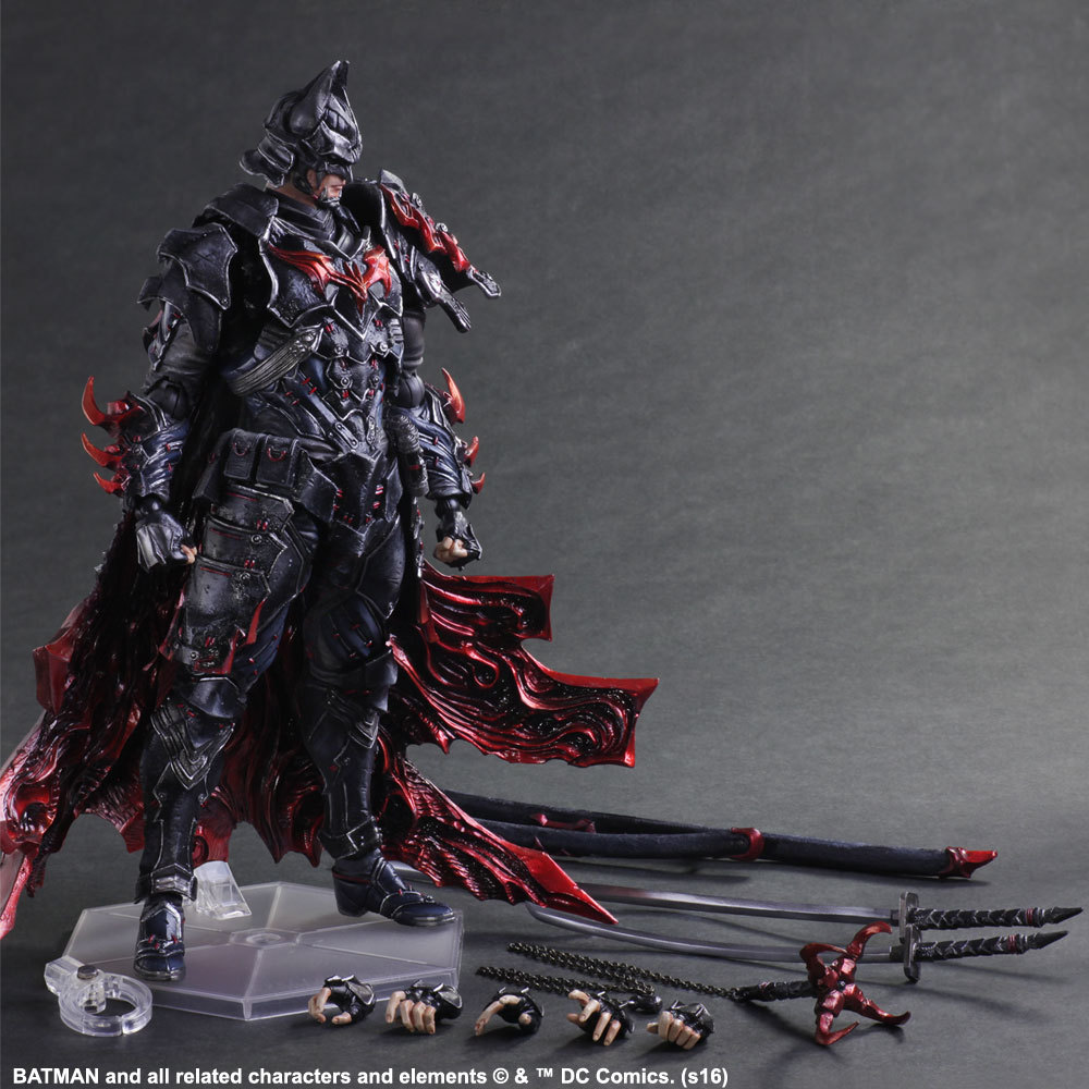 XINDUPLAN DC Comics Play Arts Kai Justice League Movie Batman Knight Bushido Limited Edition Action Figure Toys 27cm Model 0521 xinduplan dc comics play arts kai justice league batman reloading dawn justice action figure toys 25cm collection model 0637