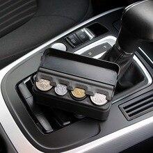 Коробка для хранения автомобильных монет, аксессуары для интерьера, карманный Телескопический чехол для монет на приборную панель, органайзер для автомобиля, пластиковый держатель, контейнер