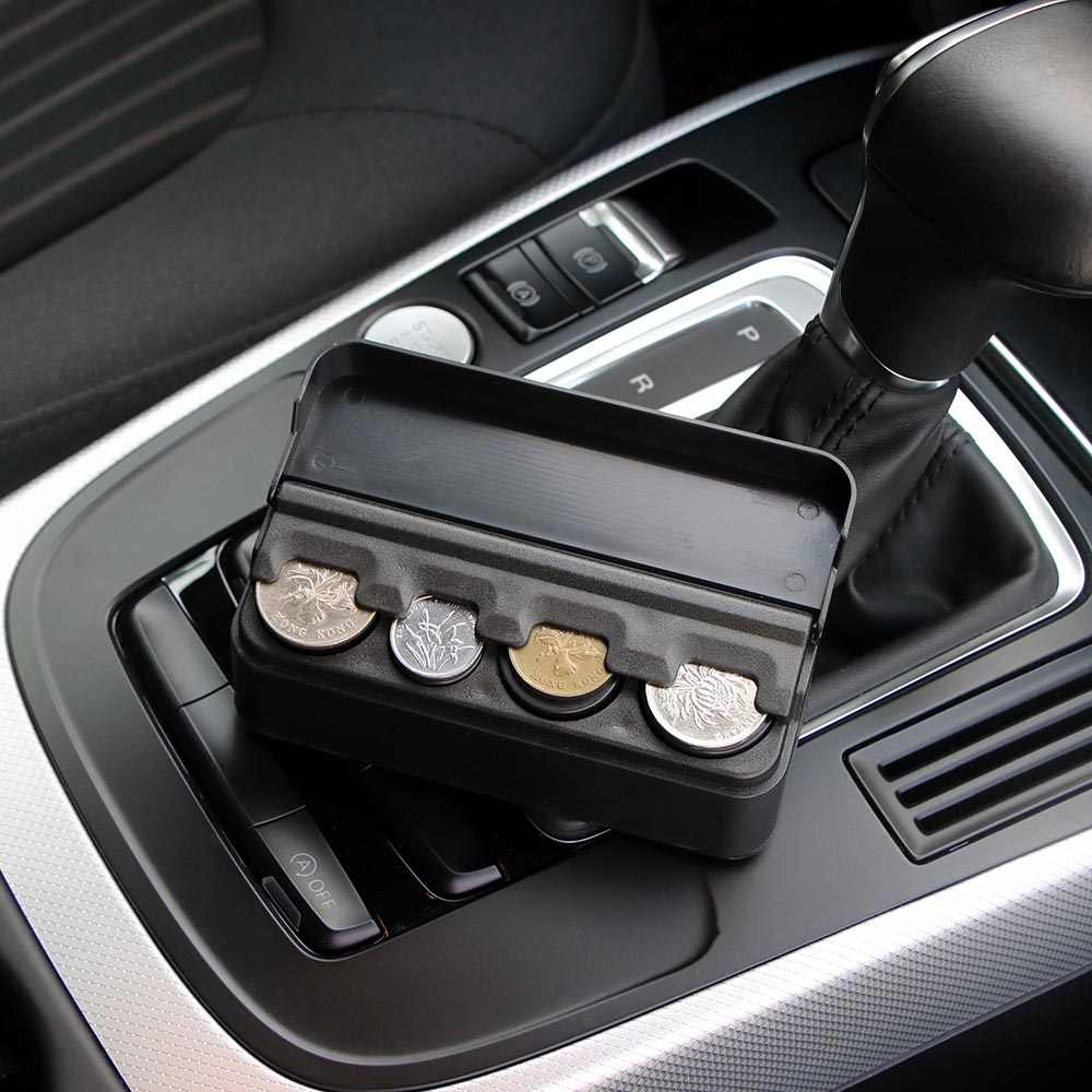 Car Coins Storage Box Interior Accessories Pocket Telescopic Dashboard Coins Case Car Organizer Plastic Holder Container