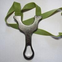 Lastik bant Ile ücretsiz shiping Kolu Avcılık sapan sling shot geleneksel Metal sapan sıcak caza sapan