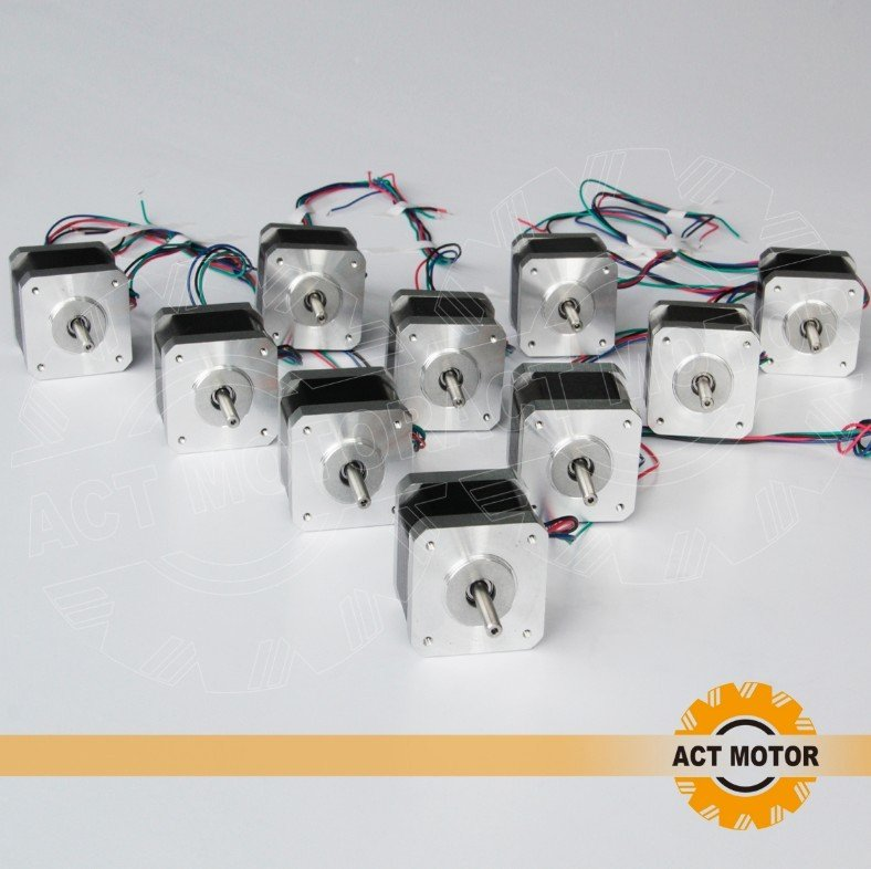 10PCS 4-LEAD Nema17 Stepper Motor 40oz-in( 28N.CM) ,33MM,12V,0.4A  CE   17HS340410PCS 4-LEAD Nema17 Stepper Motor 40oz-in( 28N.CM) ,33MM,12V,0.4A  CE   17HS3404