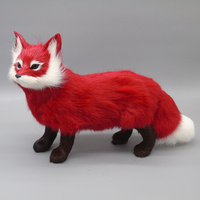 The simulation model of red fox furnishing articles firefox gifts home decoration photography props simulation fox