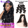 10A Malaysian Body Wave 360 Lace Frontal With Bundle Unprocessed Malaysian Virgin Hair Human Hair Bundles 360 Lace Virgin Hair