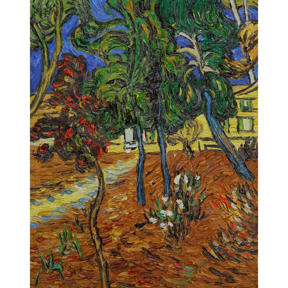 Vincent Van Gogh paintings on Canvas Trees in the Garden of St. Paul ...