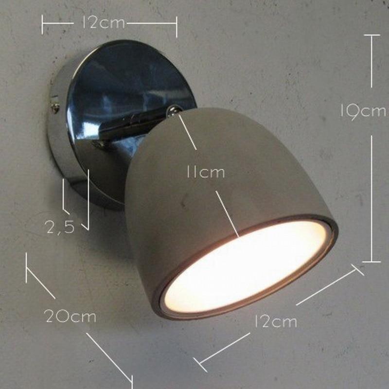New Design Modern Concrete Shade Lustre LED Ceiling Lights Lamp Fixtures Adjustable Head For Bedroom Living
