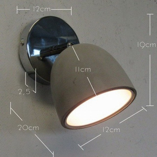New Design Modern Concrete Shade LED Ceiling Lamp Fixtures Adjustable Head For Bedroom Living Room
