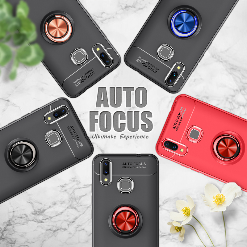 Phone Cases For Xiaomi Mi Max3 Case Car Stand Magnetic Bracket Finger Ring TPU Shockproof Cover For Xiaomi Mi Max3 Coque6 9 quot inch in Half wrapped Cases from Cellphones amp Telecommunications