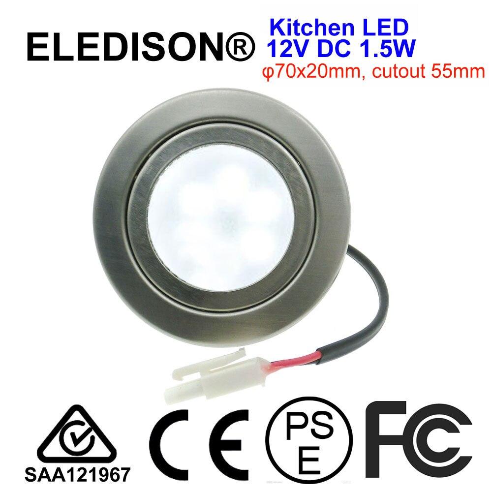 Capuzes de cozinha Lâmpada 1.5 W LED Luz 12 V DC = 20 W Lâmpada Halógena Mini Recesso Downlight para Cozinha uso do Barco Do iate