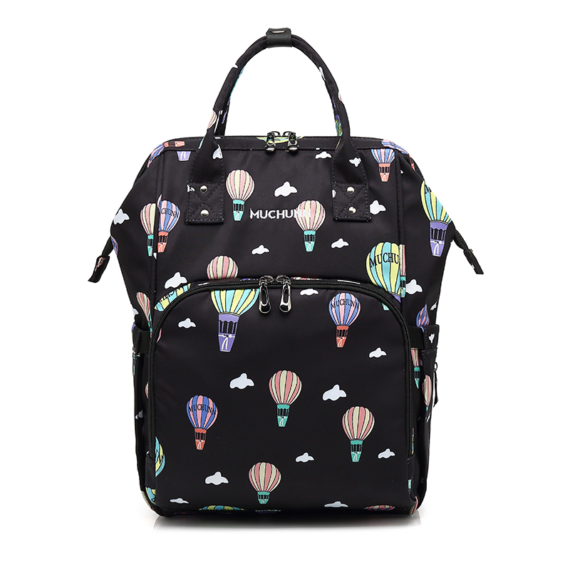Baby Diaper Bag Mummy Maternity Travel Backpack Large Capacity Nappy Changing Bag Waterproof Balloon Printed Nursing