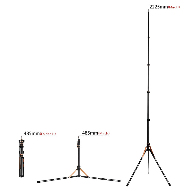 Image 4 - Fosoto FT 220 Carbon Fiber Led Light Tripod Stand Monopod For Camera Photo Studio Photographic Lighting Flash Umbrella Reflector-in Photographic Lighting from Consumer Electronics