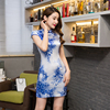 Free Shipping Vestidos De Fiesta Faux Silk Qipao Dress Traditional Chinese Clothing Oriental Dresses Chinese Qipao
