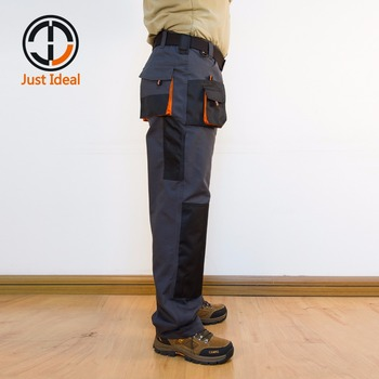 Mens Cargo Pants Canvas Hard Wearing Work Trousers Multi Pocket Oxford Waterproof Casual Pant Brand Clothing European Size ID617 2