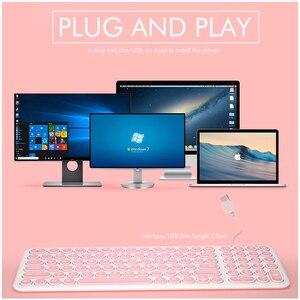 Image 3 - B.O.W سلك لوحة المفاتيح 96 مفاتيح مستديرة ، فائقة النحافة السلكية USB ميناء KB التوصيل والتشغيل كتابة مريحة للكمبيوتر/الكمبيوتر/الكمبيوتر المحمول/ماك