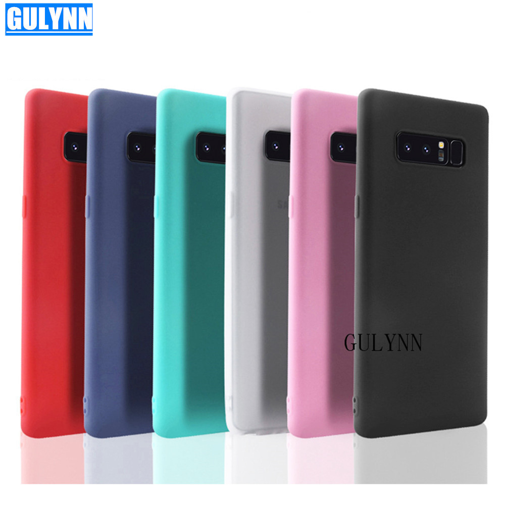 Phone Samsung Galaxy J4 J5 J6 J7 J8  A6 A8 A3 A5 A7 S8 S9 Plus  Candy Colors Soft Silicon Cover