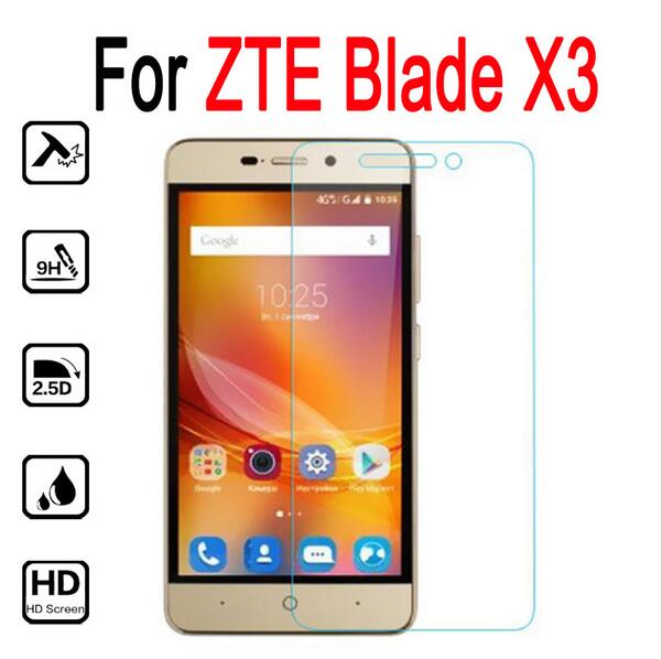 2PCS Tempered Glass Film For ZTE Blade X3 9H Explosion-proof Front LCD Screen Protector Guard Verre Film Safe With Cleaning Tool