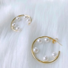 Neatear Personality 2019 Pearl Decoration Female Party Birthday Gift Korean Earrings Instagram Internet celebrity