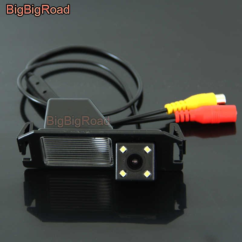 BigBigRoad 車のリアビューバックアップ Ccd カメラナイトビジョン起亜魂現代クーペ S3 Tuscani でティブロン/HB20 HB20X