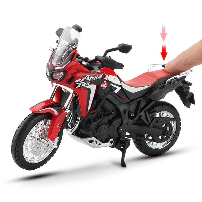 Maisto 1:18 Scale Motorcycle Model Toy Alloy Off-Road Racing Motorbike Africa Twin DCT CRF1000L Motor Motorcycles Toys For Kids