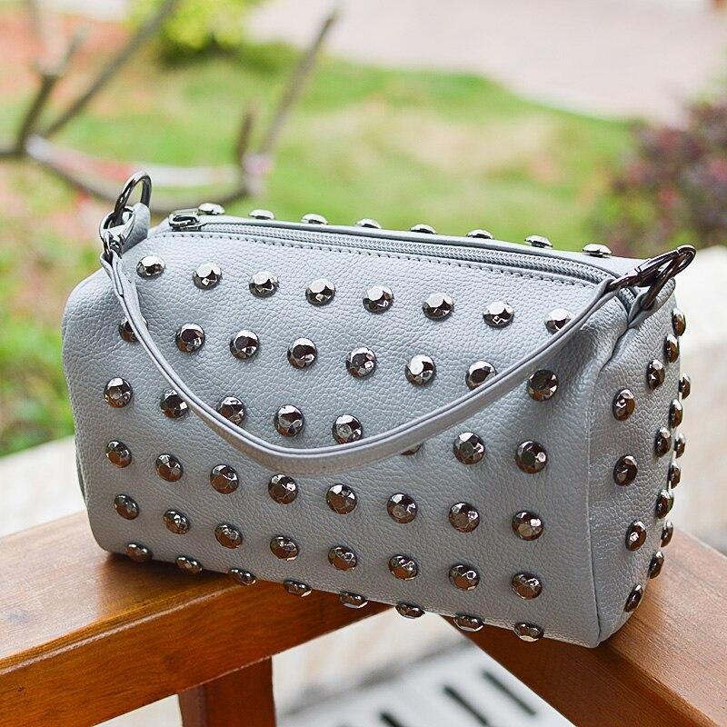 c95de51eb233 Beaocly женская сумка для женщин Сумочка Кошелек с заклепками женские сумки  через плечо клатч сумка для девочек