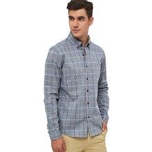 Plus Size Shirts New 2018 Spring Casual Men Shirt Cotton Linen Mens Dress Shirt Slim Fit Plaid Shirt Long sleeve Camisas MC127