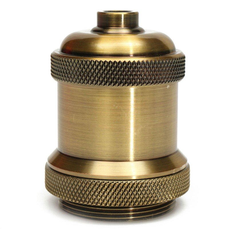 E26/E27 Bulbs Bases Retro Light Socket Vintage Aluminium Lamp Holder Screw Thread Supplies Antique Keyless Home Pendant