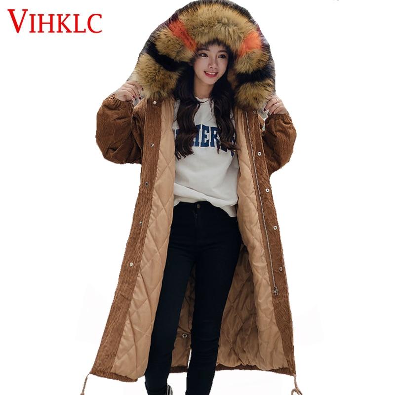 Velours De 2 Parka D'hiver Lâche Mode 2017 Col Épais Manteau Femmes Veste Chaud Grand Fourrure Lady H650 1 vTHxqRUKwE