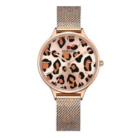 REWARD Leopard Print Luxury Lady Watches Japanese Automatic Quartz Movement Women Watches Business Casual Women Wrist Watches