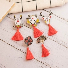 Japanese style and wind brooch cute cartoon small female accessories retro pin