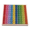 Детские деревянные игрушки 99 Таблица мультипликации математические игрушки 10*10 фигурные блоки Детские Обучающие подарки Монтессори