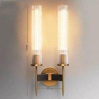 Vintage wohnzimmer Wand Lampe Metall Glas Led lampe Nacht Wand Licht Schlafzimmer Wand Leuchte Korridor Wandlamp Freies Verschiffen|LED-Innenwandleuchten|   -
