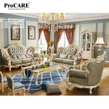 luxury European and American style living room furniture quality Italia Leather sofa set
