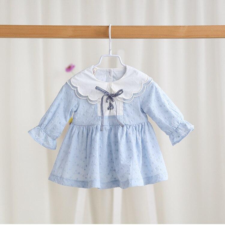 vestido infantil 2017 spring and autumn new baby dress cute Lotus leaf collar princess dress Long sleeve children girl dress