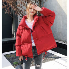 Puff Coat Fashion Korean Cotton Clothing Womens Winter New Loose Thicken Short Down Jacket Student Casual Warm Overcoat f1227