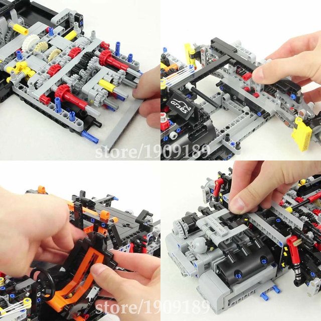 Decool 3368 Car Model Building Bricks Blocks Set Toys New year Gift Toys for Children Boy ecudational toy LEPIN Technic