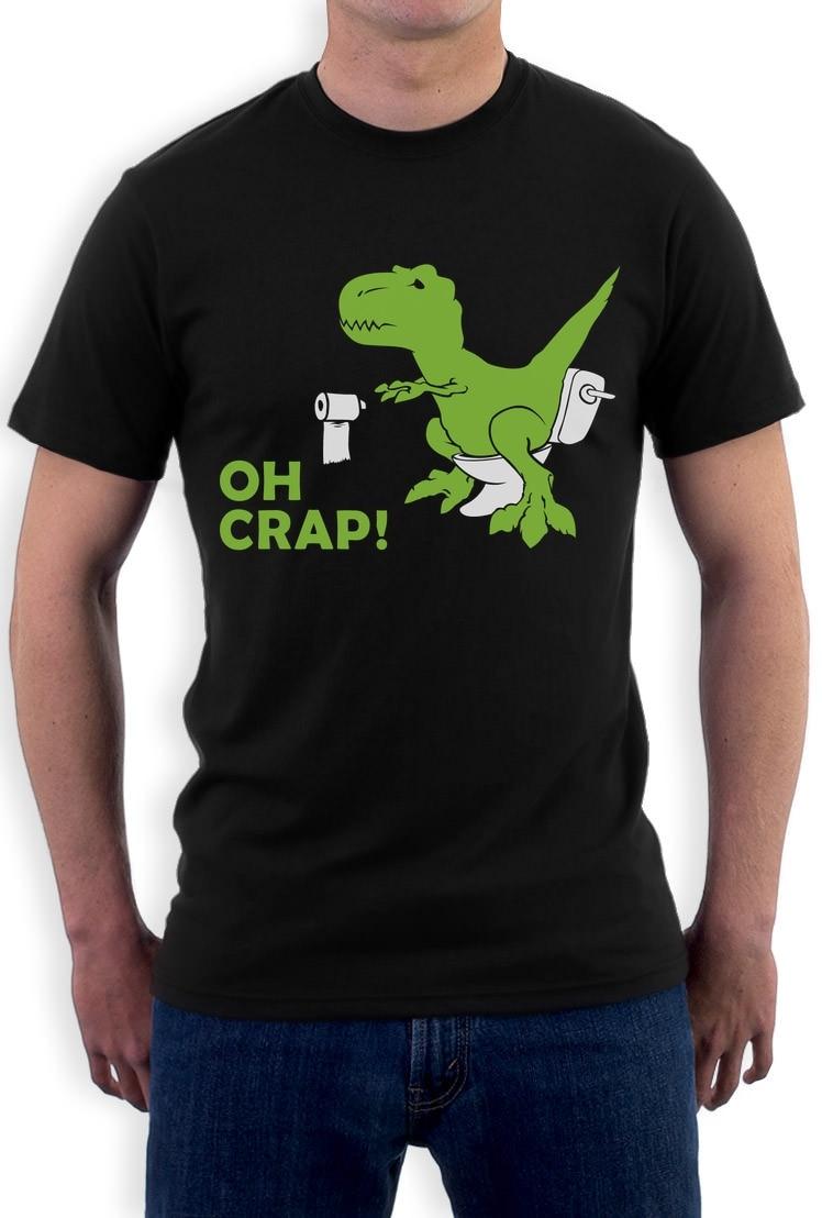Hot Topic T-Rex Mens Short Sleeve Polo Shirt Regular Blouse Sport Tee