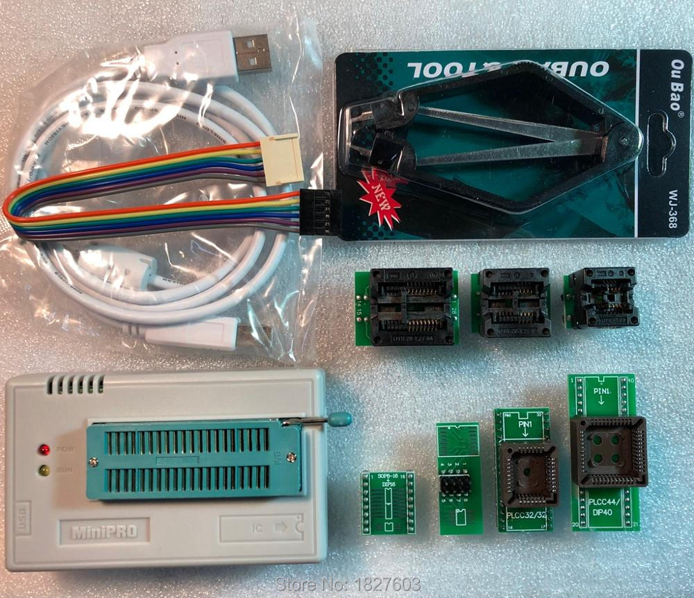 V7.05 XGecu TL866II Plus USB Programmer support 15000+IC + 7PCS Adapter SPI Flash NAND EEPROM MCU PIC AVR replace TL866A