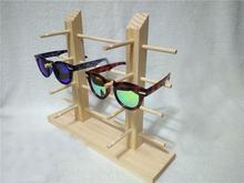 4 уровневая деревянная витрина для солнцезащитных очков двухрядная