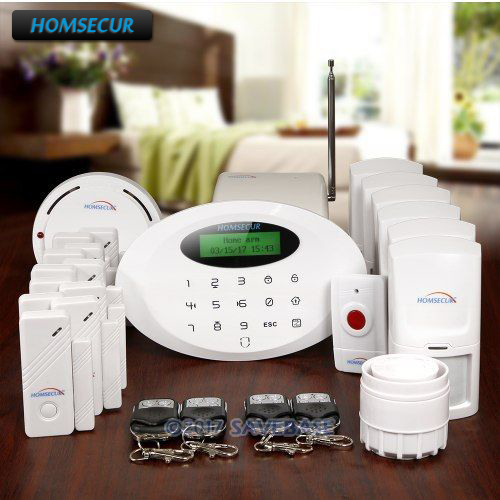 HOMSECUR Wireless APP Controlled GSM Burglar font b Alarm b font System With Panic Button