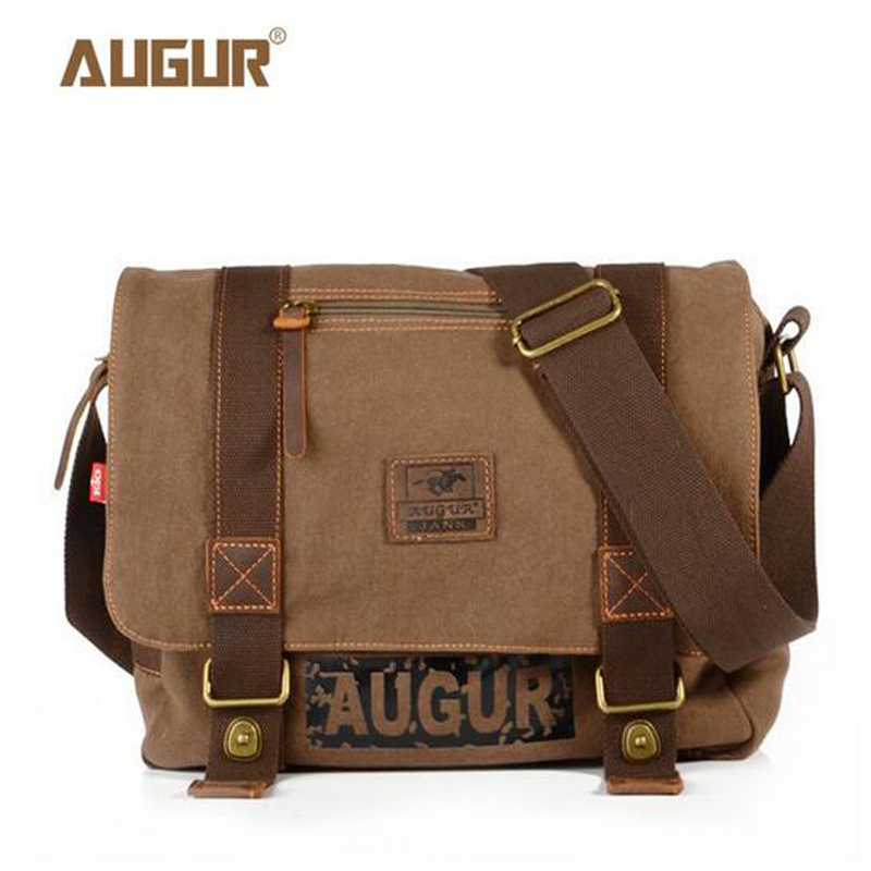 AUGUR Vintage Men's Messenger Bags Canvas Shoulder Bag Fashion Men Business Crossbody Bag Printing Travel Handbag PD0233