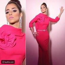 2017 Dubai Arabisch Günstige Abendkleid Abendkleid Abendkleider Saudi-arabien Meerjungfrau Wassermelone Lang Abschlussball-partei-kleid-kleid
